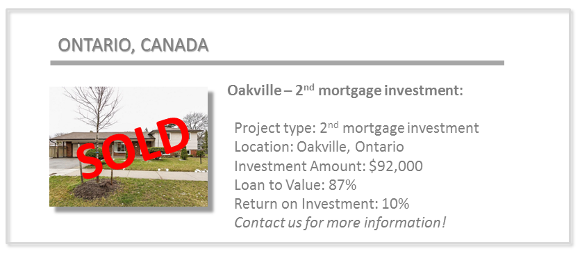 past deals - oakville 2nd mortgage