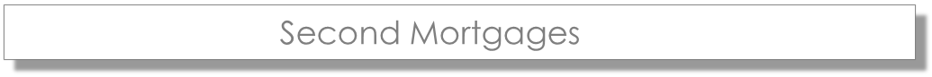 second mortgages banner