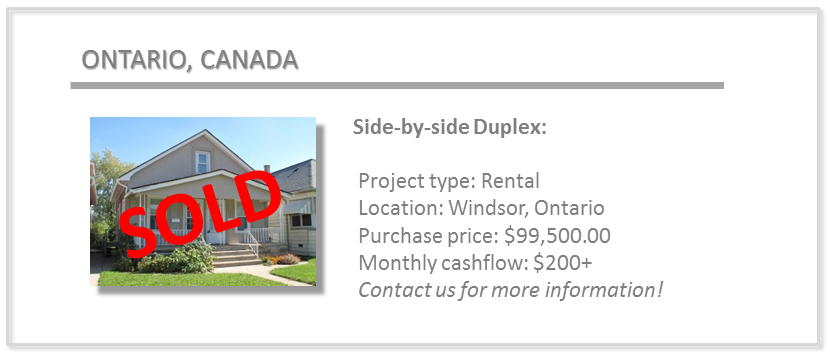 past deals - windsor side duplex