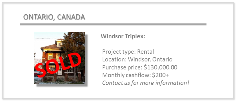 past deals - windsor triplex
