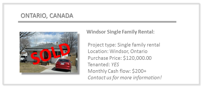 past deals - windsor single family rental