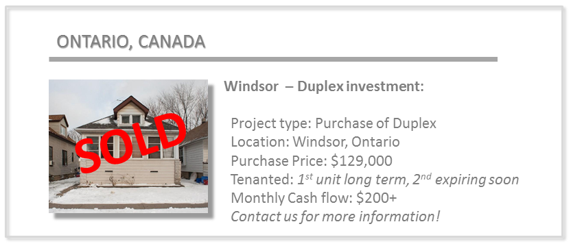 past deals - windsor duplex